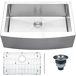 Ruvati 16-gauge Stainless Steel 33-inch Single Bowl Apron Front Kitchen Sink