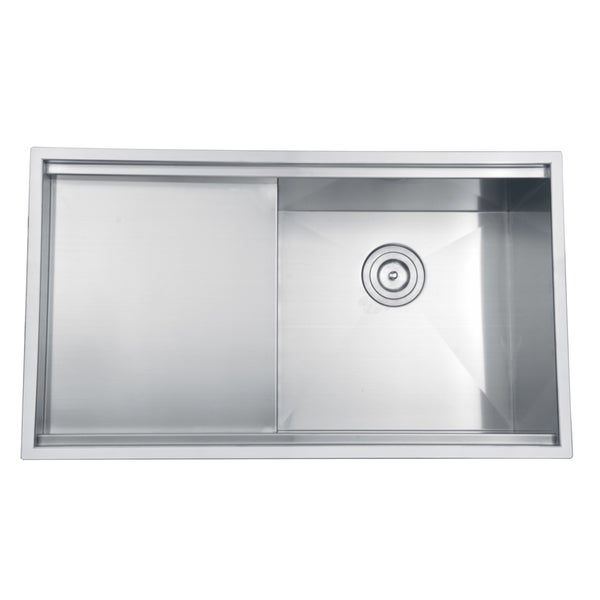 Ruvati 16 Gauge Stainless Steel 33 Inch Single Bowl Undermount Kitchen Sink Free Shipping Today 14534091