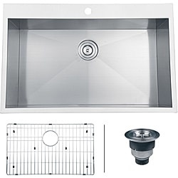Ruvati 16-gauge Stainless Steel 33-inch Single Bowl Overmount Kitchen Sink