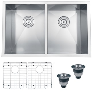 Ruvati 16-gauge Stainless Steel 30-inch Double Bowl Undermount Kitchen Sink