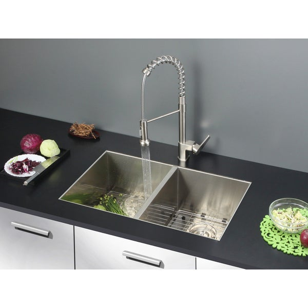 30 Inch Double Bowl Kitchen Sink