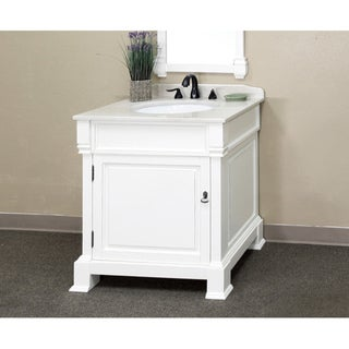 Bellaterra Home 'Olivia 30' Hardwood Bathroom Vanity