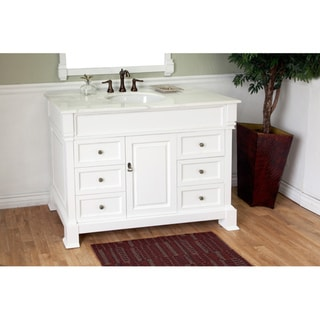 Bellaterra Home 'Olivia 50' Hardwood Bathroom Vanity