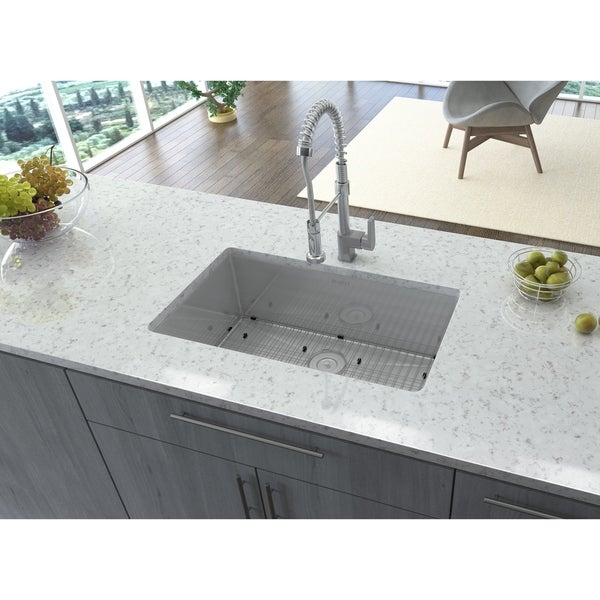 Ruvati 16 Gauge Stainless Steel 30 Inch Single Bowl Undermount Kitchen Sink    Free Shipping Today   Overstock.com   14534203