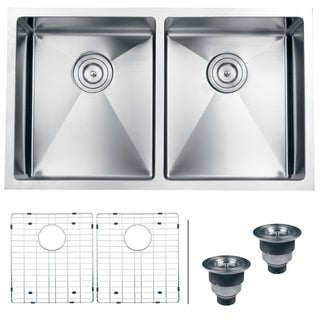 Ruvati 16-gauge Stainless Steel 32-inch Double Bowl Undermount Kitchen Sink