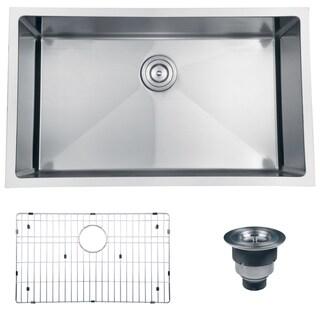 Ruvati 16-gauge Stainless Steel 32-inch Single Bowl Undermount Kitchen Sink
