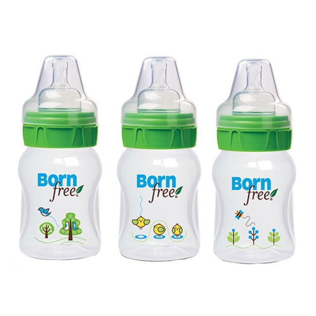 Born Free Five-ounce Ecofriendly Decorated Bottles (Pack of Three)