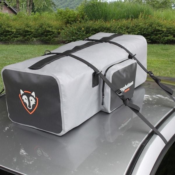 Rightline Gear Gray/Black Waterproof Car Top/Luggage Rack Duffel Bag