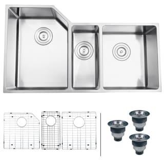 Ruvati 16-gauge Stainless Steel 35-inch Triple Bowl Undermount Kitchen Sink
