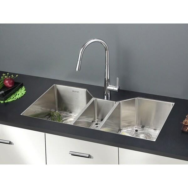 Ruvati 16-gauge Stainless Steel 34-inch Triple Bowl Undermount Kitchen Sink