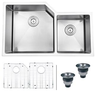 Ruvati 16-gauge Stainless Steel 33-inch Double Bowl Undermount Kitchen Sink