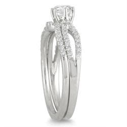 Marquee Jewels  10k White Gold 5/8ct TDW Diamond Bridal Ring Set (I-J, I1-I2)