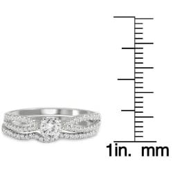 Marquee Jewels  10k White Gold 5/8ct TDW Diamond Bridal Ring Set (I-J, I1-I2) - Thumbnail 2