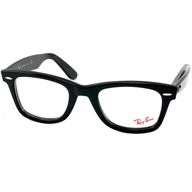 ray ban unisex rx 5121 original wayfarer shiny black optical eyeglasses frames
