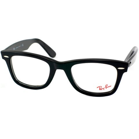 1f5e3f9ccb Ray-Ban Unisex RX 5121 Original Wayfarer Shiny Black Optical Eyeglasses  Frames