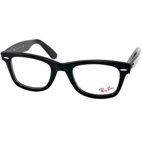 5667e629d1 Ray-Ban Unisex RX 5121 Original Wayfarer Shiny Black Optical Eyeglasses  Frames