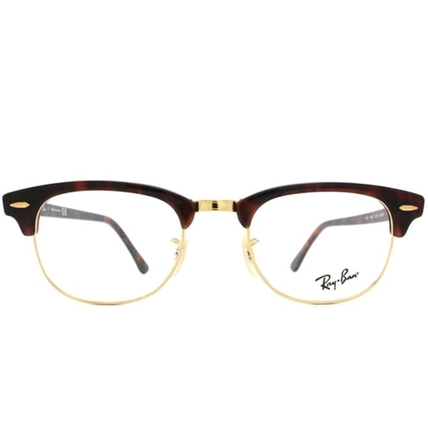 6fc3a6981d Shop Ray-Ban Unisex RX 5154 Tortoise  Gold Clubmaster Optical Eyeglasses  Frames - Free Shipping Today - Overstock - 7030200