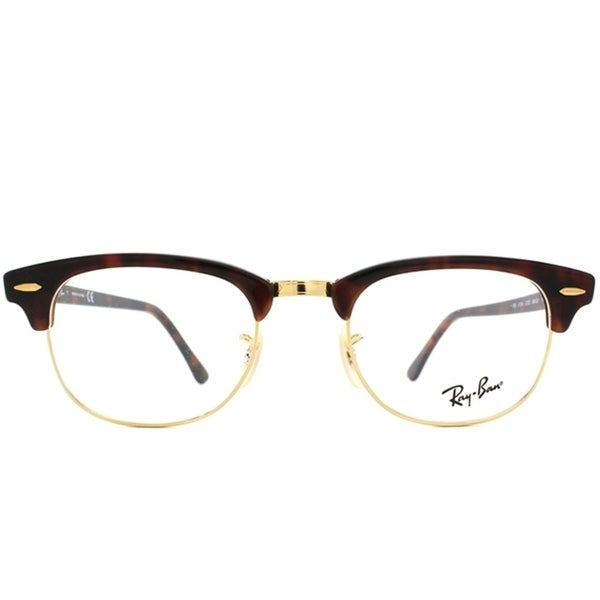 87bd80354417 Shop Ray-Ban Unisex RX 5154 Tortoise  Gold Clubmaster Optical Eyeglasses  Frames - Free Shipping Today - Overstock - 7030200