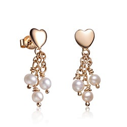 Collette Z Children's Sterling Silver Pearl Dangle Earrings