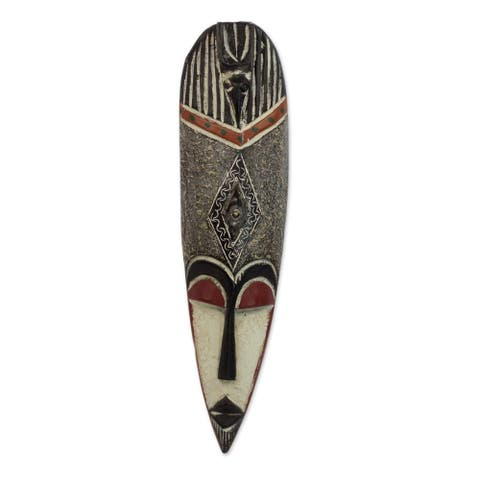 Sese Wood Spirit World Protection Ghanaian African Mask (Ghana)