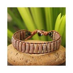 Handmade Jasper and Smoky Quartz 'Subtle Earth' Bracelet (Thailand)