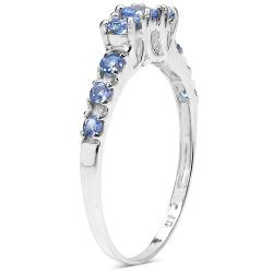 Malaika Sterling Silver 1/2ct TGW Tanzanite Ring