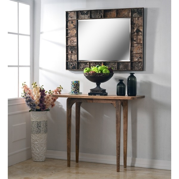 "Design Craft Jobi 38"" Wall Mirror - Natural Birch Wood"