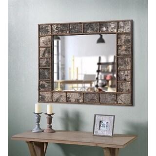 "Jobi 38"" Wall Mirror - Natural Birch Wood"