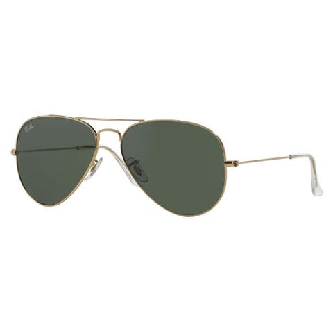 Ray-Ban Aviator RB3025 Unisex Gold Frame Green Lens Sunglasses
