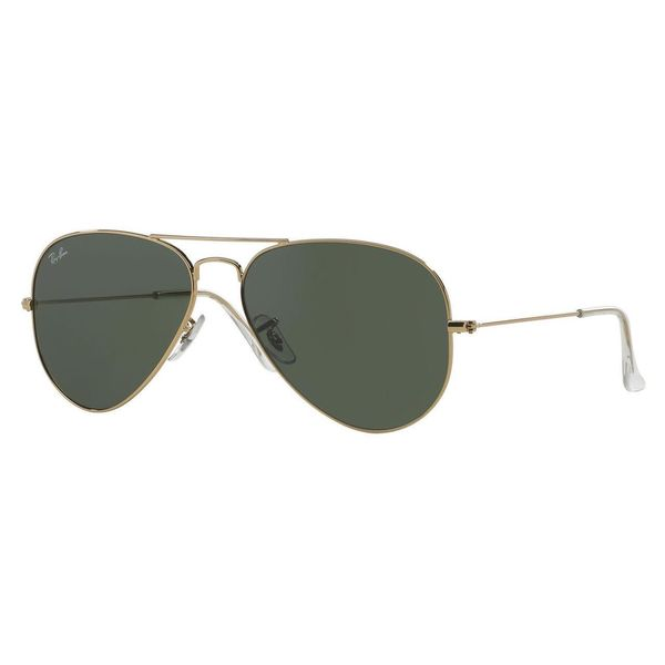 2e1d4acb28b Shop Ray-Ban Aviator RB3025 Unisex Gold Frame Green Lens Sunglasses ...