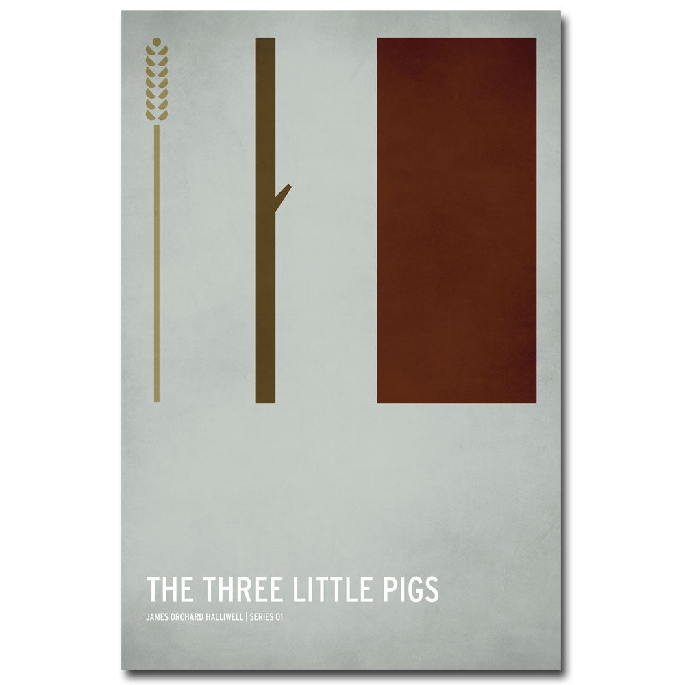 Christian Jackson 'Three Little Pigs' Canvas Art