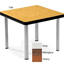 16' x 20' x 20' OFM 2020 Wood Square End Table with Steel Legs (Option: Cherry Finish)
