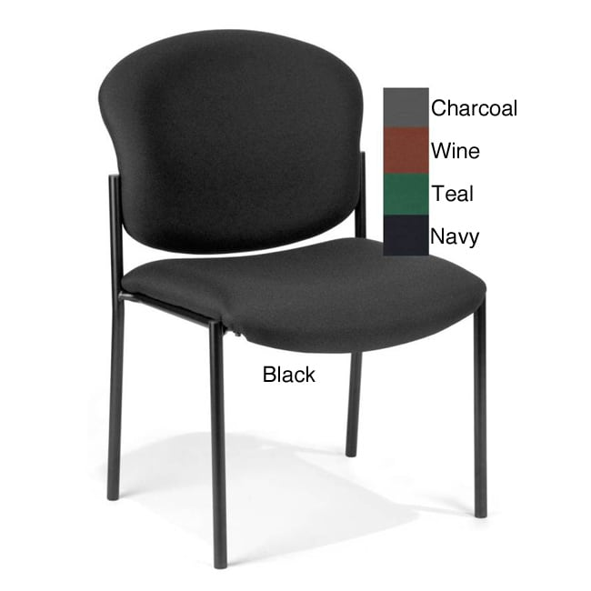 OFM 408 Manor Series Vinyl Armless Guest and Reception Chair