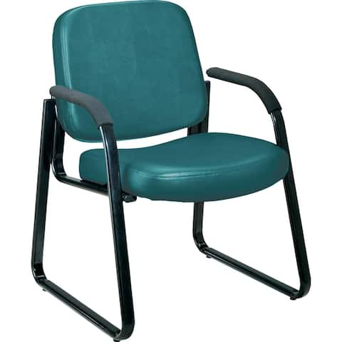 OFM Manor Series Armless Guest and Reception Chair, Vinyl (408-VAM)