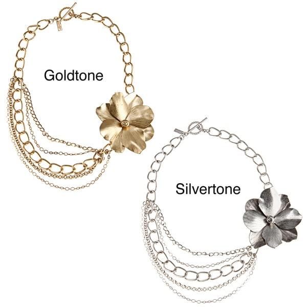 Jessica Simpson Flower Fashion Necklace