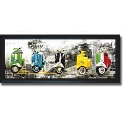 Bresso Sola 'Get Your Mopeds Running' Framed Canvas Art