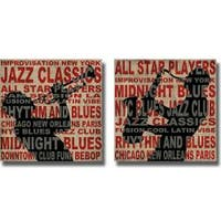 Luke Wilson 'Jazz I and II' 2-piece Canvas Art Set