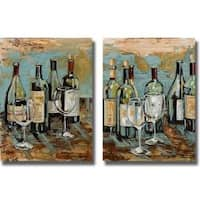 Heather French-Roussia 'Wine I and II' 2-piece Canvas Art Set