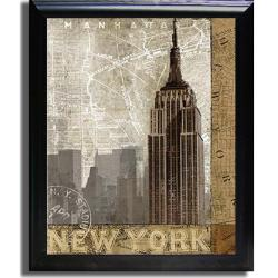 Keith Mallett 'Autumn in New York' Framed Canvas Art