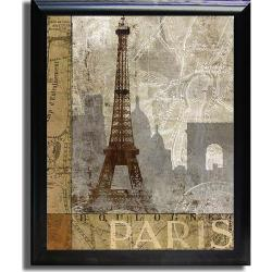 Keith Mallett 'April in Paris' Framed Canvas Art