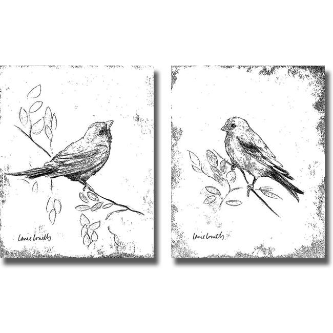 Lanie Loreth 'Songbird III and IV' 2-piece Canvas Art Set