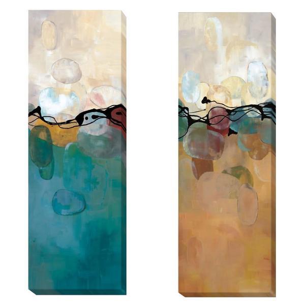 Laurie Maitland 'Retro Jewels' 2-piece Canvas Art Set