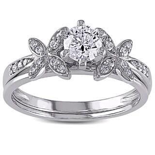 Miadora Signature Collection 10k White Gold 5/8ct TDW Diamond Bridal Set (G-H, I2-I3)
