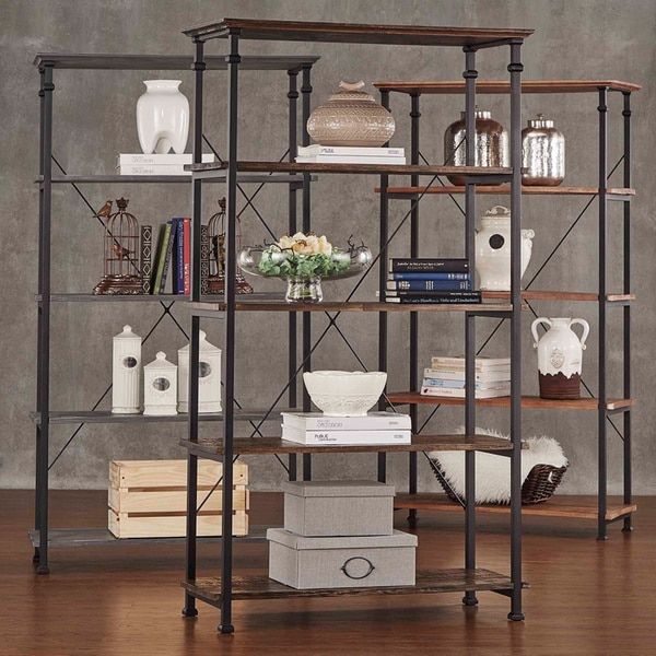 Myra Vintage Industrial Modern Rustic 40-inch Bookcase by TRIBECCA HOME