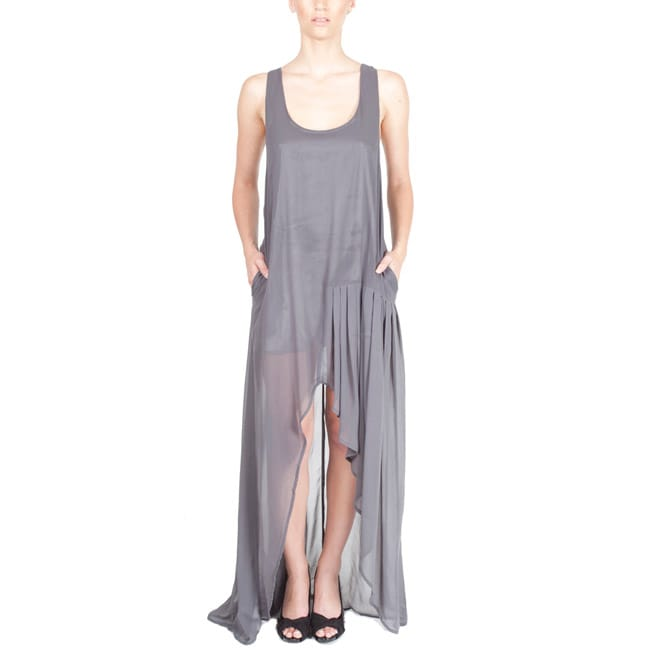 Nami Women's Semi-sheer Racerback Maxi Dress - Thumbnail 0
