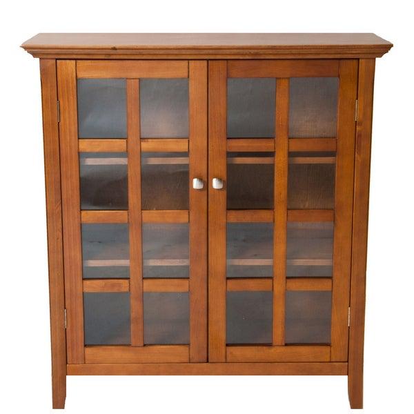 WYNDENHALL Normandy Light Avalon Brown Medium Storage Media Cabinet & Buffet