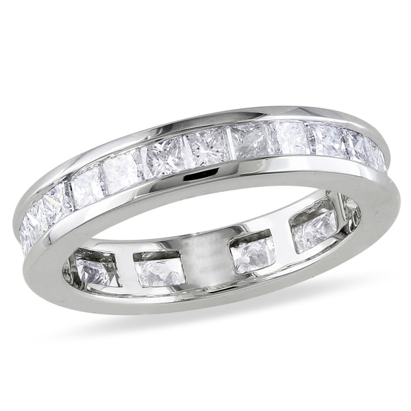 Miadora Signature Collection 14k White Gold 2ct TDW Channel-set Diamond Eternity Ring (G-H, SI1-SI2)