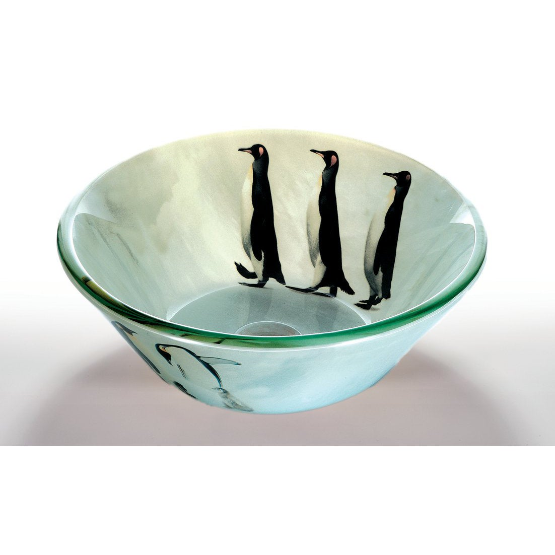 Glass Vessel Bowls : Penguin Glass Bowl Vessel Bathroom Sink - Free Shipping Today ...
