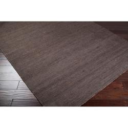 Hand-woven Conifer Brown Reversible Jute Rug Rug (2' x 3') - Thumbnail 1