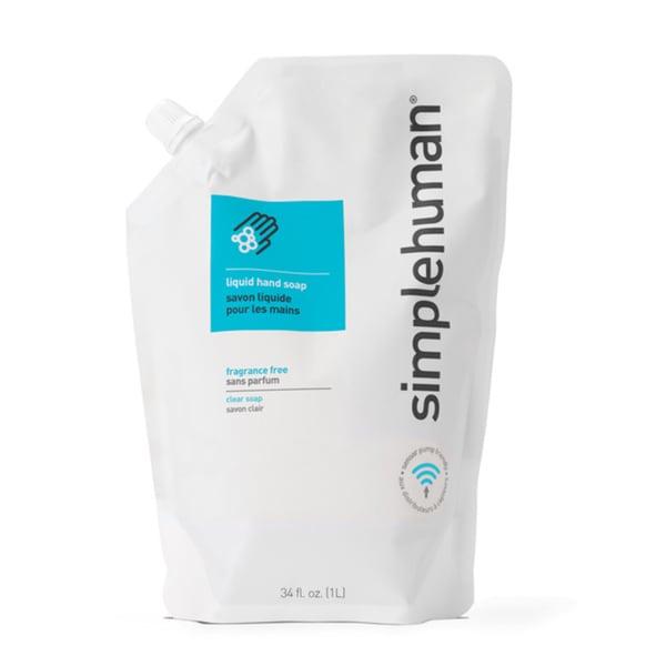 simplehuman Liquid Hand Soap 34-ounce Fragrance Free Refill Pouch
